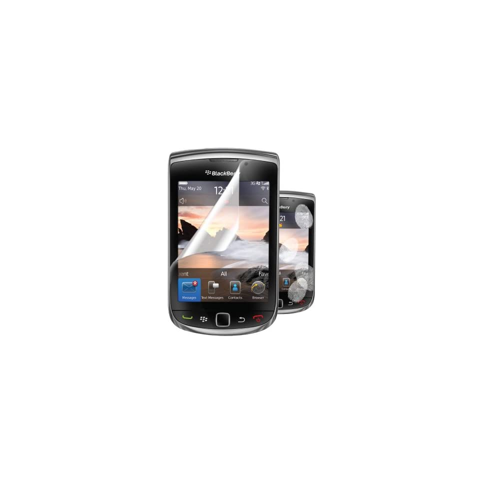 Hip Street Anti Fingerprint Screen Protector for BlackBerry Torch   2 Pack   Screen Protector   Retail Packaging   Clear