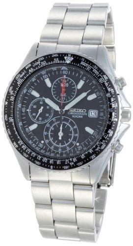 Seiko Mens Chronograph Flight Master Analog Dress Quartz Watch (Imported) - Watch Flight Master
