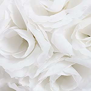 10 Pack Romantic Rose Pomander Flower Balls Rose Bridal for Wedding Bouquets Artificial Flower DIY White By Ben Collection 4
