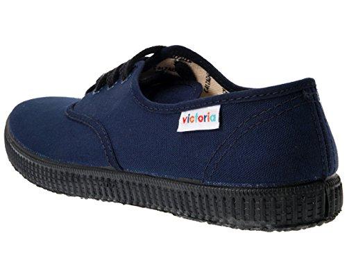victoria - Zapatillas de deporte de tela para mujer Azul (Marino)