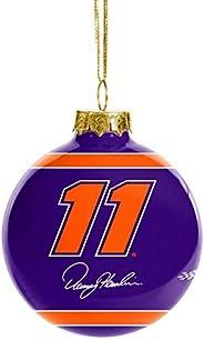 FOCO NASCAR Glass Ball Ornament - Limited Edition Christmas Ball Ornament - Represent Nascar and Show Your Rac
