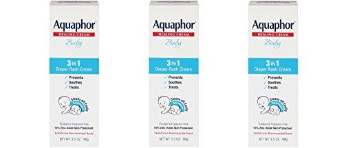 Aquaphor dzgsbc Baby Diaper Rash Cream, 3.5 Ounce (3 Pack) by Aquaphor