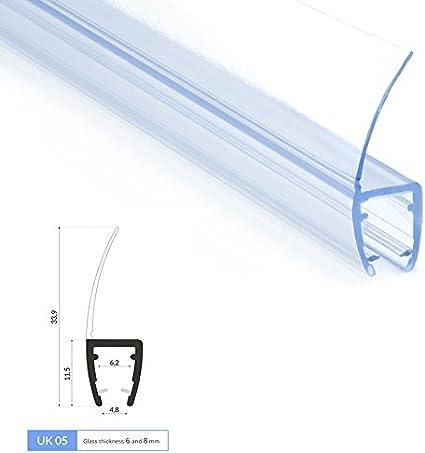 Duschprofil Duschdichtung UK02 Ersatzdichtung Wasserabweiser  Duschkabine Dusche