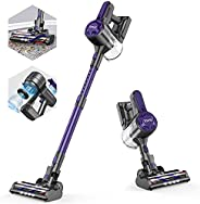 ZOKER Stick Vacuum, Cordless Vacuum with 5 Stages High Efficiency Filtration, 80000 RPM High-Speed Brushless M