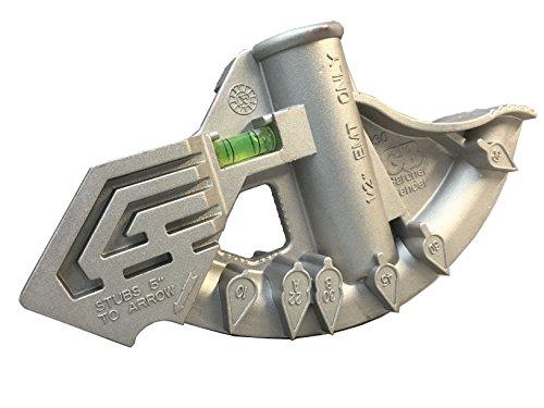 Gardner Bender 930B Aluminum Conduit Hand Bender Tool, Bends ½ Inch. EMT Electrical Conduit, Bending Tool, Level Gauge, Embossed Sight Angles, Fits BH-75 Handle - Emt Conduit Bending
