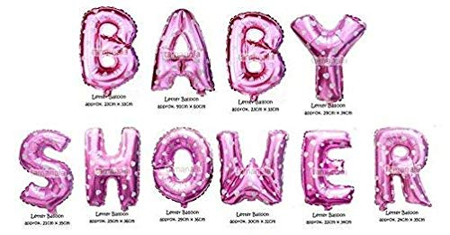 Indian Accent 16 inch Pink Color Baby Shower Alphabet Balloon