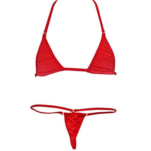 1e2f13db8f8 YiZYiF Women's Brazilian Bikini Triangle Thongs G String Swimwear Bathing  Suits