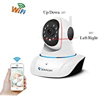 Wireless Camera, Lary intel Baby Monitor WiFi IP Surveillance Camera HD 720P, Plug/Play, Pan/Tilt, Two-Way Audio & Night Vision Remote Motion Detect Alert with Two-Way Audio and Infrared Night Vision
