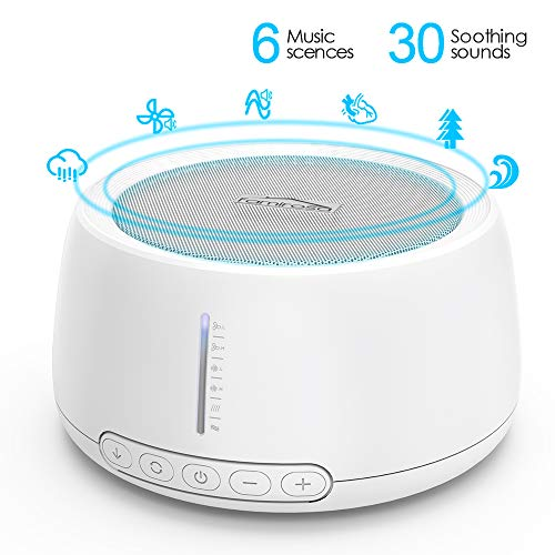 White Noise Sound Machine for Sleeping,Famirosa Portable Sleep Therapy for Home, Office, Baby & Travel, 30 Relaxing & Soothing Nature Sounds (30 Sound)