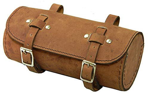 Utility Kit Bag - Herte Genuine Leather Bicycle Saddle Bag Utility Tool kit Handlebar Vintage Crazy Brown