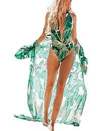 3470d2c405 Womens Chiffon/Rayon Beach Blouses Kimono Cardigan Long Bikini Cover Up