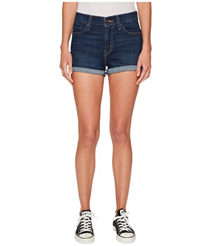 Levi's? Womens Women's High-Rise Shorts Blue Forest 34