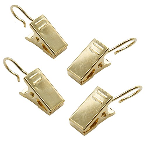 Buorsa 100 Pack Stainless Steel Golden Curtain Clip Small String Party String Lights Hanger Wire Holder for Home Decoration, Pictures, Photos, Art Craft Dispaly and Outdoor Activities Supplies (Gold) by Buorsa