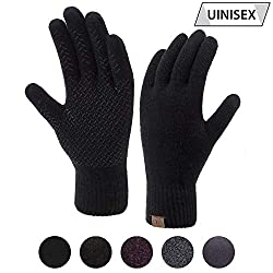 ViGrace Winter Touchscreen Gloves for Men and Women & Keep Warm in Cold Weather ViGrace Touch-Screen Gloves - Design for Men and Women. Specially Design for both Autumn and Winter Outdoor Activities, It can not only warm your hands, ...