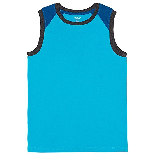 (French Toast Boys' Toddler Sleeveless Muscle Tee, Colorblocked Turquoise Reef, 4T )