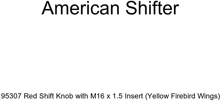 American Shifter 95307 Red Shift Knob with M16 x 1.5 Insert Yellow Firebird Wings