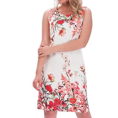 Dress for Women Wedding Guest On Sale Kekebest Flower Print Sleeveless Casual Vest Dress from Kekebest