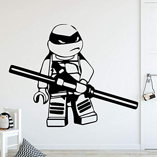 Wall Stickers Decal Removable Vinyl Decal Quote Art DIY Mutant Ninja Turtles Home Decor Wall Stickers for Kids Room Removable Wall Art -