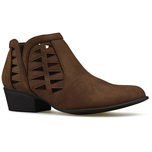 Strap Toe Bootie Premier Women's Standard Multi Ankle Brown Closed vCqq7xwP