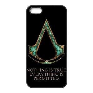 Assassin'S Creed funda iPhone 5 5S Negro de la cubierta del teléfono celular de la cubierta del caso funda EBDOBCKCO17306