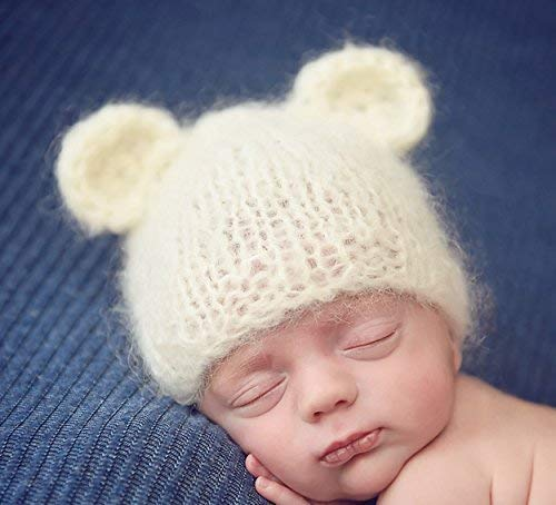 13231901565 Image Unavailable. Image not available for. Colour  Crafty Stuff Baby Knits  Fluffy Hand Knitted Baby Bear bonnet or Beanie Hat ...