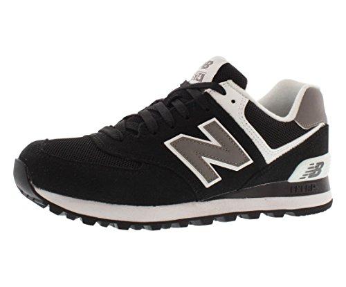 New Balance Women's 574 Sneaker (Black/White 5.5 B)