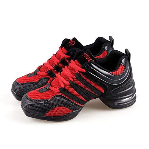 Maille Standard À Gym Scène De Plus Uirend Femme Moderne Lacets Sport Détente Sneakers Latin Mode Sont Rouge Jazz Danse Antidérapant les Baskets Petites Chaussures Respirant W8TnnqZYX