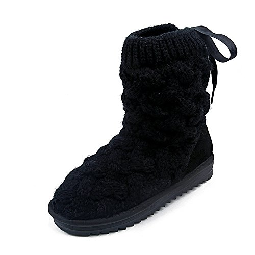 Women's Booties Black Knit Booties Knit Booties Women's Knit Black Women's Black YaqCF
