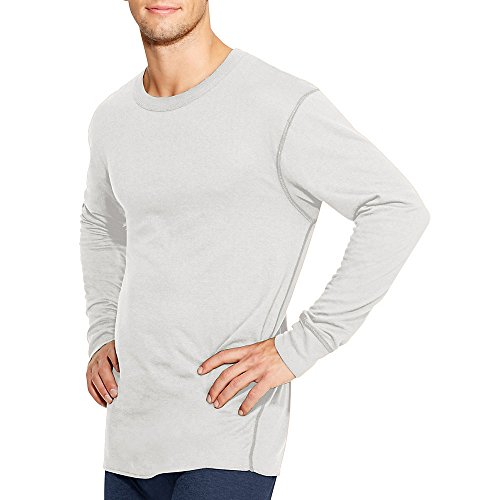 Duofold by Champion Thermals Men's Long-Sleeve Base-Layer Shirt, Winter White, XL by Duofold