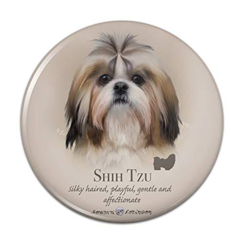 Shih Tzu Dog Breed Compact Pocket Purse Hand Cosmetic Makeup Mirror - 3