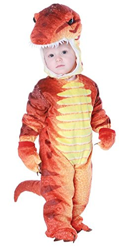 [UHC Boy's T Rex Toddler Fancy Dress Theme Party Child Halloween Costume, 2T-4T] (Trex Baby Costumes)