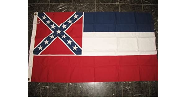 4x6 Embroidered Sewn State of Mississippi 100/% Cotton 4x6 Flag hand made