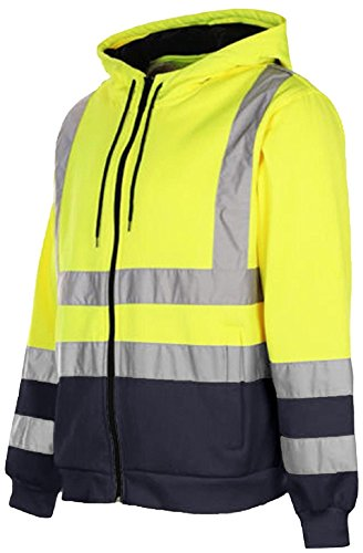 Mens Stormway/® Waterproof Two Tone Bomber Jacket High Visibility Hi Vis Standard Safety Work Wear