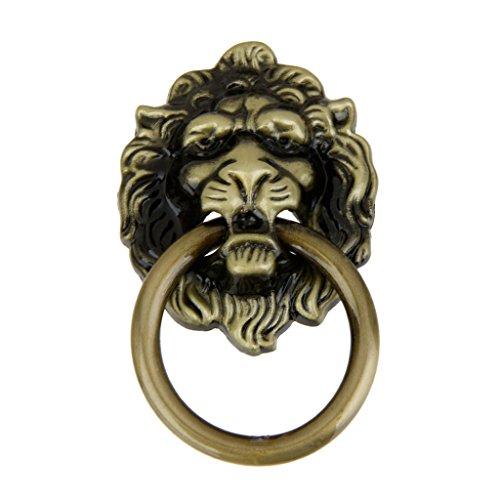 Small Knob Lion Head Brass (MagiDeal Vintage Metal Lion Head Style Cabinet Door Pull Handle Kitchen Room Dresser Drawer Knob - Brass)