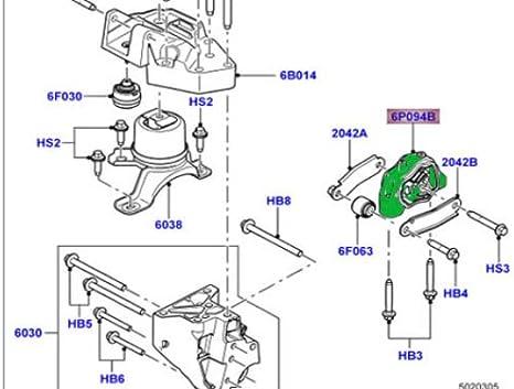 Engine Mount Rear For Land Rover LR2 3.2 2008-2012 LR039527 OEM Quality