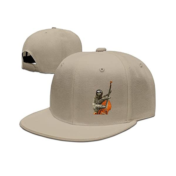 Hunting Sloth With Bass Guitar Violoncello Hat For Womens -