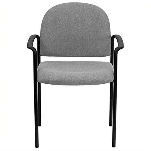 Scranton and Co Stackable Side Guest Chair with Arms in Gray by Scranton & Co
