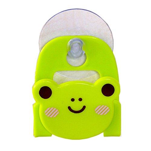 Cartoon Suck Sponge Rack Storage Woopower Kitchen Bathroom Soap Utensils Box Holder (Green Frog) ()