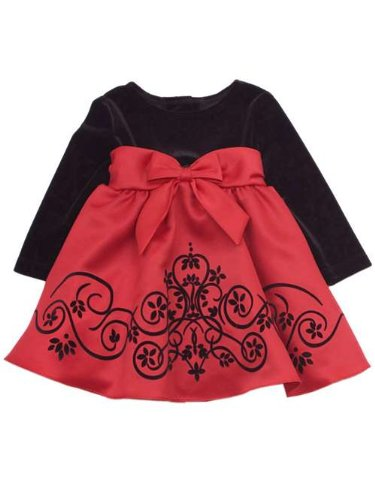 Rare Editions Girls Special Occasion Dress : Black Velvet...