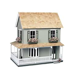 9309 Features: -Material: Wood. -Large wrap-around porch completes the traditional detail. -Set includes three floors, six rooms, porch and two rooms. -Dollhouses collection. Product Type: -Dollhouse. Dollhouse Style: -Farmhouse. Color: -Unfi...