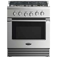 DCS RDV2304N 30 Dual Fuel Range with 4 Sealed Dual Flow Burners 4 Cu. Ft. Oven Capacity 5 Shelf Positions Flat Vent Trim and 6 Oven Functions: Stainless
