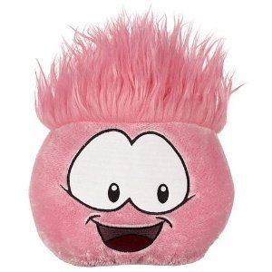 Disney Club Penguin Jumbo Plush Puffle Pink Series 1 Comes with Coin to Unlock 2 items! 8