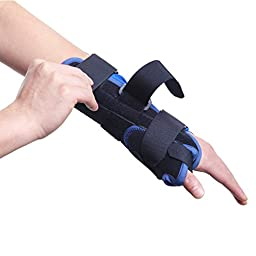 Wrist/Thumb Splint, OUTAD Wrist Support Brace with Thumb Spica for Wrist Pain for Pain, Sprains, Strains, Arthritis, Carpal Tunnel & Trigger Thumb Immobilizer, Wrist Strap (Medium, Right, Blue)