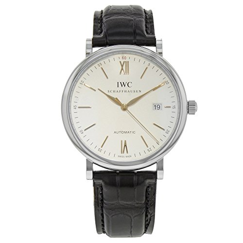IWC Men's Swiss Automatic Stainless Steel Casual Watch, Color:Black (Model: IW356517)