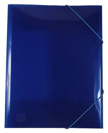 limone EXXO by HFP 51236 Eckspanner//Gummizugmappe A4 PP-Vollkunststoff mit Struktur mit 3 Einschlagklappen und Gummizugverschluss