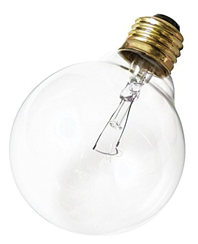 Satco 40G30 Incandescent Globe Light, 40W E26 G30, Clear Bulb [Pack of 6]