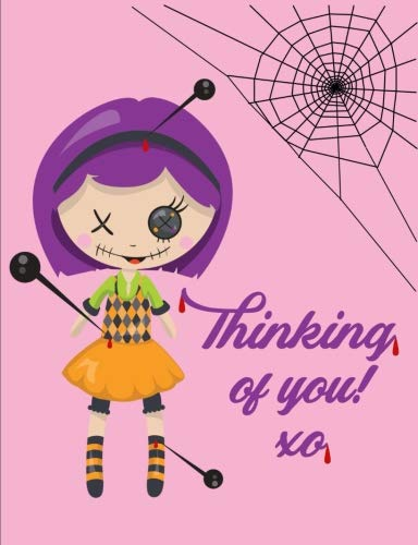 Thinking of You Composition Notebook: College Ruled (7.44 X 9.69) Voodoo Doll Spider Web Spirit Magic Journal Writing Book