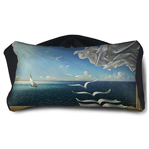 Eye Mask Eye Pillow Fantasy Seashell Sea Birds Eyeshade Blindfold For Yoga Sleep Aid Stress Relief Travel Work Naps