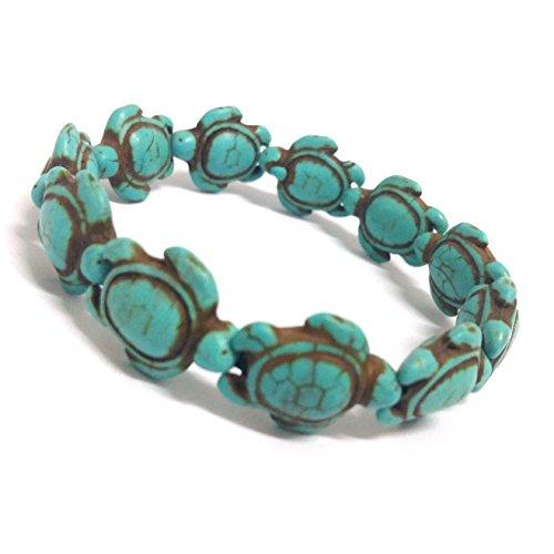 Nove Jewelry Leather Turquoise Handmade Sea Turtles Bracelet - Hawaiian Sea Turtle Bracelet - Turtles Hemp ()