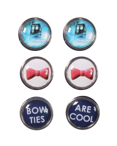 Doctor Who Tardis Bow 3PK Stud Earrings (Hot Topic Doctor Who)